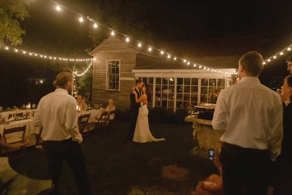wedding first dance outside